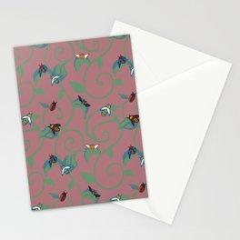 Pink Bug Swirl Stationery Cards