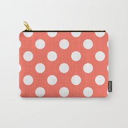 Bittersweet - pink - White Polka Dots - Pois Pattern Carry-All Pouch