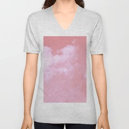 Floating candy with beige pink Unisex V-Neck