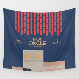 Mon Oncle - Jacques Tati Movie Poster, classic French movie, old film, Cinéma français, fun, humor Wall Tapestry