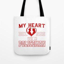 My heart belongs to a Policeman Tote Bag