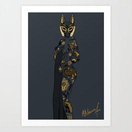 Late Night Egyptian Tales Ep. 1: Anubis Art Print