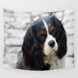 King Charles Cavalier Portrait Wall Tapestry