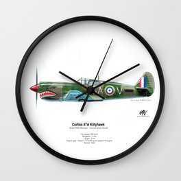 Curtiss 87A Kittyhawk Wall Clock