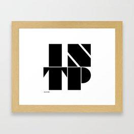 Type Type for INTP Framed Art Print