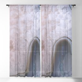 Agate Abstract Sheer Curtain