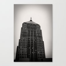 Chicago Board of Trade Building Black and White Canvas Print
