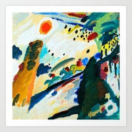 Wassily Kandinsky Romantic Landscape Art Print