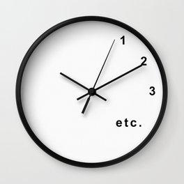 Procrastination (white version) Wall Clock