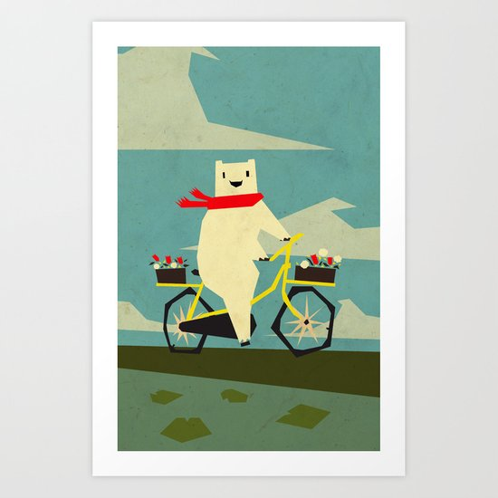 Yeti Taking a Ride Art Print