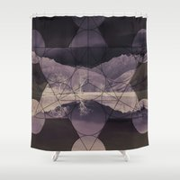 sacred geometry Shower Curtains featuring Sacred by Jemma Pope