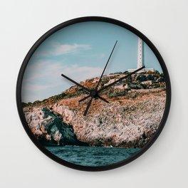 Italy Coast Seashore Lighthouse Wall Clock
