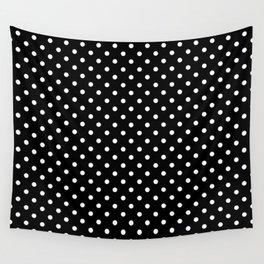 Black & White Polka Dot Pattern Wall Tapestry