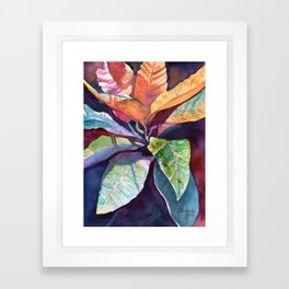 Colorful Tropical Leaves 3 Framed Art Print