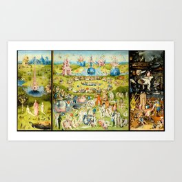 The Garden of Earthly Delights by Bosch Art Print