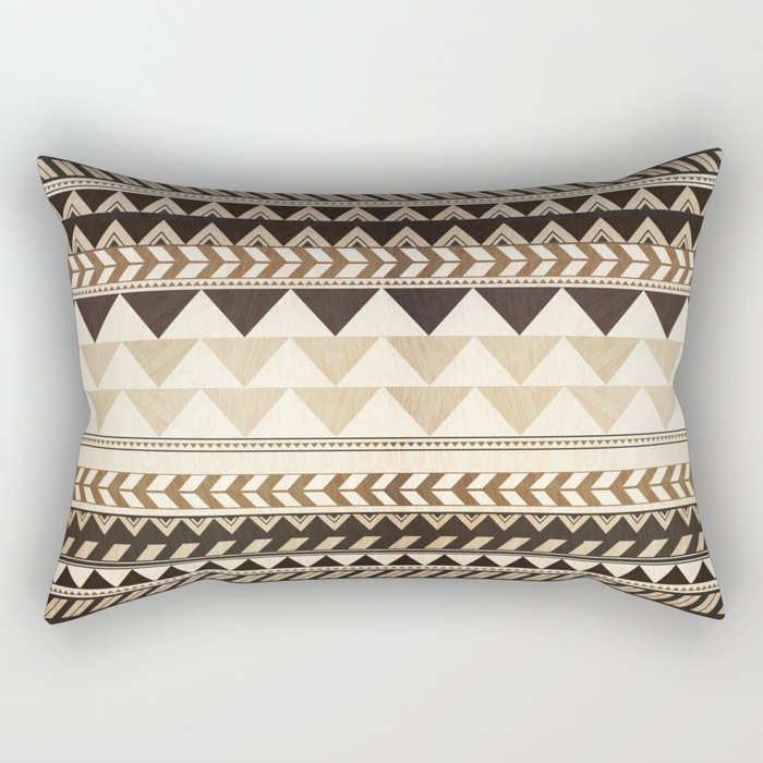 Woodwork Pattern Rectangular Pillow