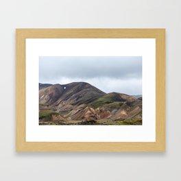 Landmannalaugar rainbow mountains in Iceland - landscape photography Framed Art Print