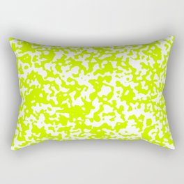 Small Spots - White and Fluorescent Yellow Rectangular Pillow