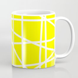 Doodle (White & Yellow) Coffee Mug