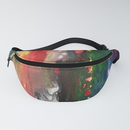 Fluid painting, abstract Fanny Pack