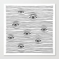 PEEPING TOM [BLK & WHT] Canvas Print