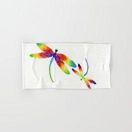 Little Rainbow Dragonflies Hand & Bath Towel