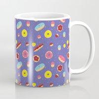 doughnut Mugs featuring Doughnut Pattern by Diana Willett