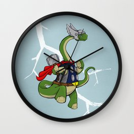 "Bronto""THOR""us - God of Thunder Lizards Wall Clock"