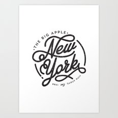 New York - White Art Print
