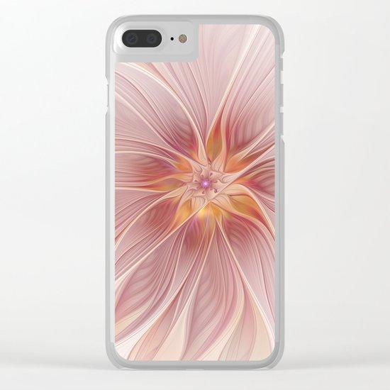 Soft Summer Dream, Fantasy Flower Clear iPhone Case