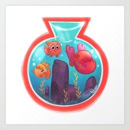 Fishbowl budies Art Print