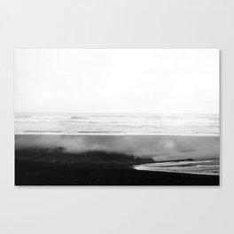 ICELAND / oceano nero Canvas Print