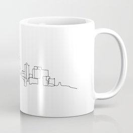 Tulsa Skyline Drawing Coffee Mug
