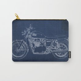 1969 triumph bonneville classic vintage motorcycle christmas gift Carry-All Pouch