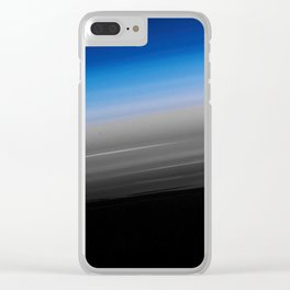 Blue Gray Smooth Ombre Clear iPhone Case