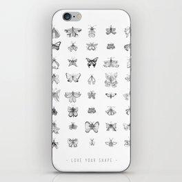 Love your shape iPhone Skin