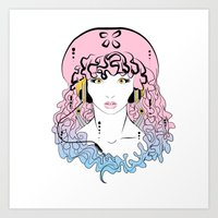 Jellyfish Music  Art Print