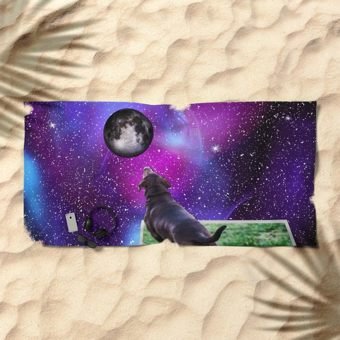 Reaching For The Moon Beach Towel