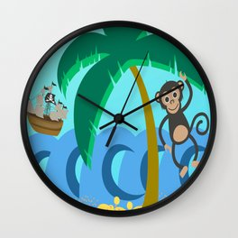 Pirates Ahoy! Wall Clock
