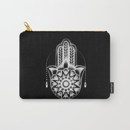 Hamsa Hand Black Carry-All Pouch