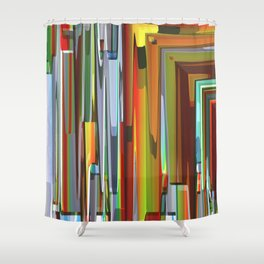 Abstract Composition 706 Shower Curtain