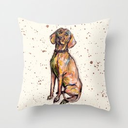 Hungarian Vizsla Dog Throw Pillow