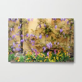 Garden Wall Metal Print