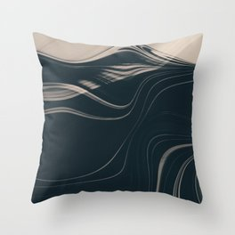 AVANT-GARDE mysterious charcoal mountain with cafe latte bands Throw Pillow