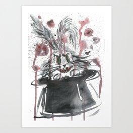 Happy bunny Art Print