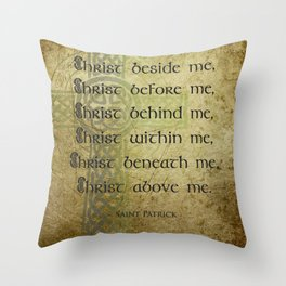 Christ Before Me ~ St. Patrick Throw Pillow