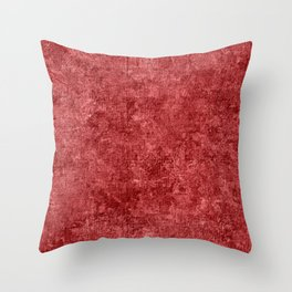 Cranberry Oil Painting Color Accent Throw Pillow