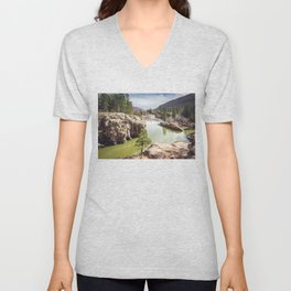 Animas River Colorado Unisex V-Neck