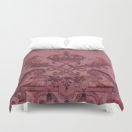 Palace Gate - Berry Duvet Cover