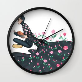 Flowering Tyler Wall Clock